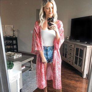 Pink snake kimono